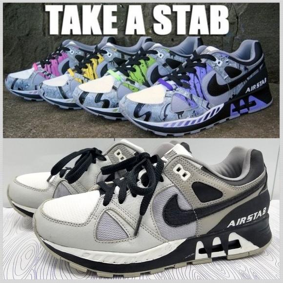 42327e68efe7b Nike Air Stab Men's Size 7.5 Grey/White/Black 2007